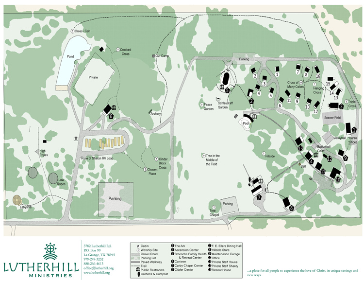 Lutherhill Campsite Map